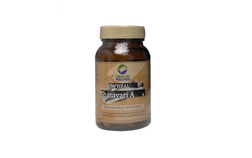 ORGANIC WELLNESS HEAL Suplement z organiczną rośliną SHATAVARI 60 kapsułek